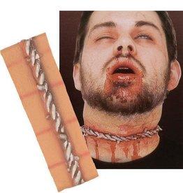 FARAM litteken prikkeldraad hals