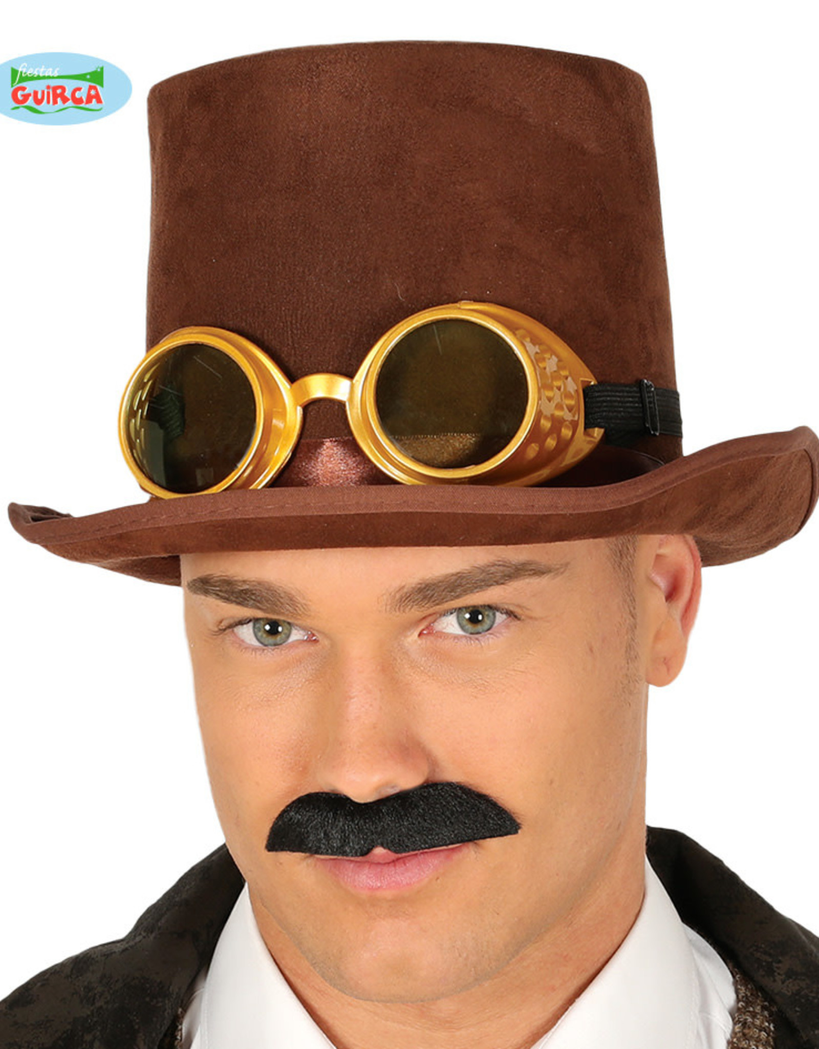 FIESTAS GUIRCA hoge hoed bruin met bril
