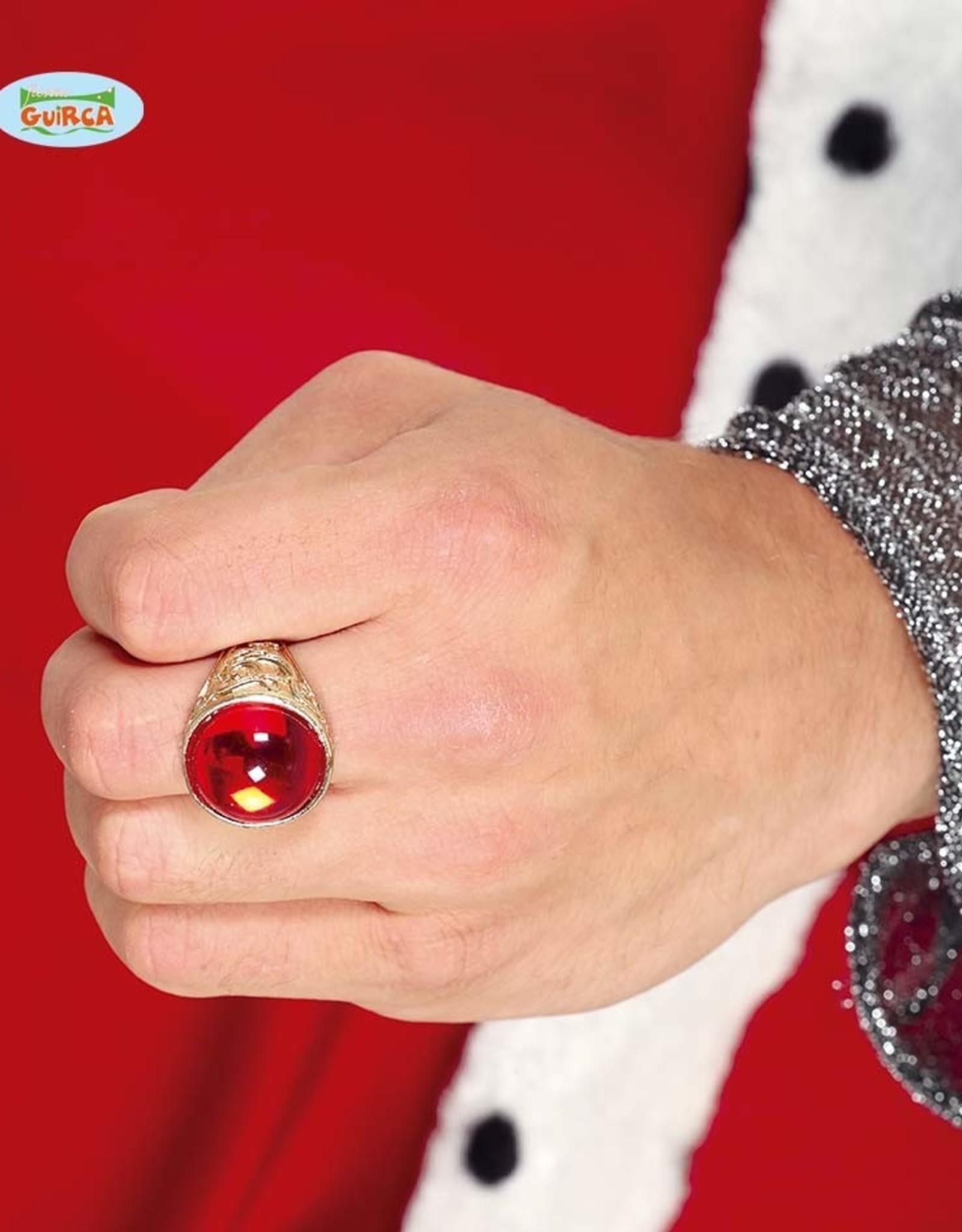 FIESTAS GUIRCA ring met rode steen