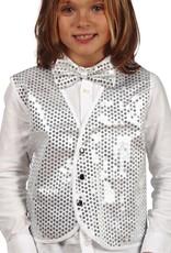 FIESTAS GUIRCA vest met glitter zilver 1 maat