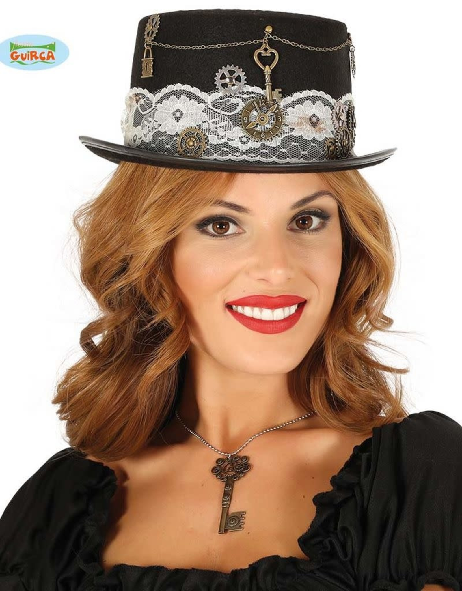 FIESTAS GUIRCA hoge hoed steam punk dame
