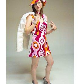 MAGIC jurk jaren 60 met pet huurprijs €15