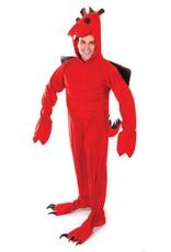 Bristol Novelty Ltd. Rode Draak jumpsuit huurprijs 25