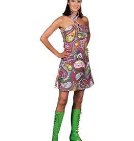 MAGIC disco kleedje met ring huurprijs € 15