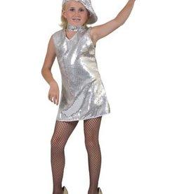 ESPA disco glitterkleedje zilver 116