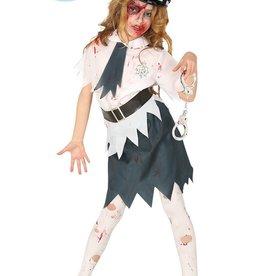 FIESTAS GUIRCA zombie politiemeisje 10/12 jaar