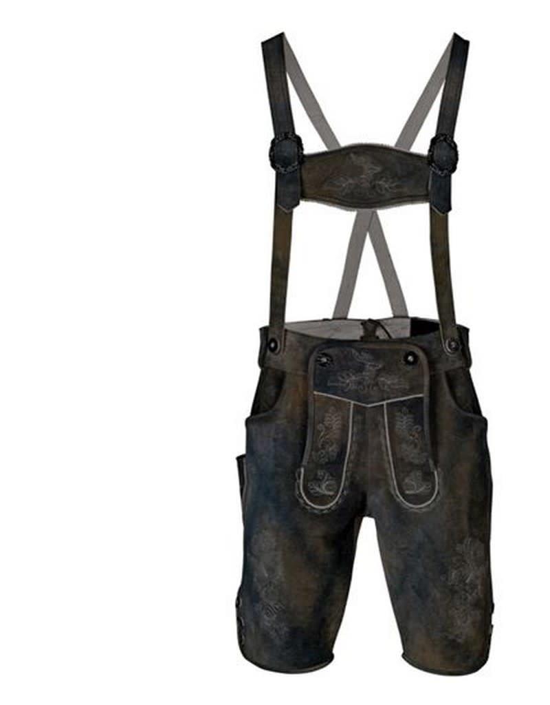 WITBAARD tiroler broek leder grijs huurprijs € 40 62