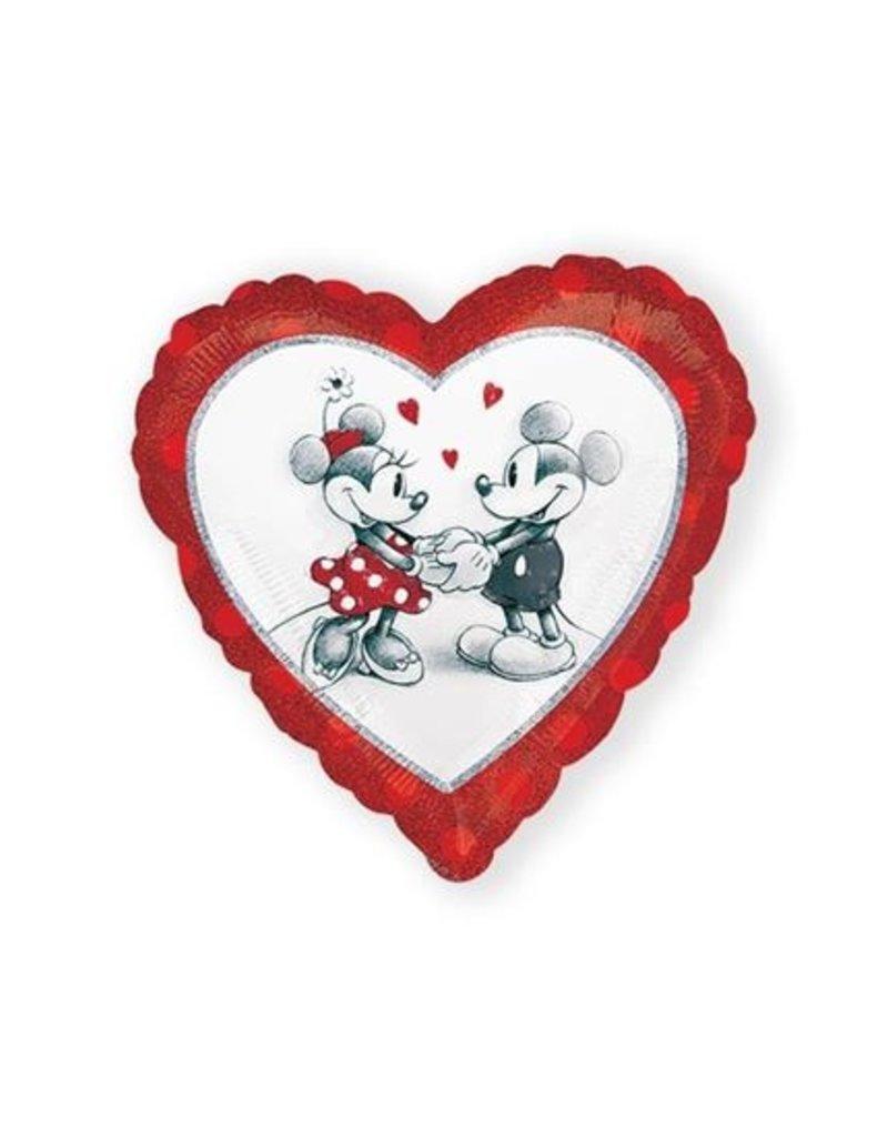 WITBAARD folie Mickey en Minnie met helium