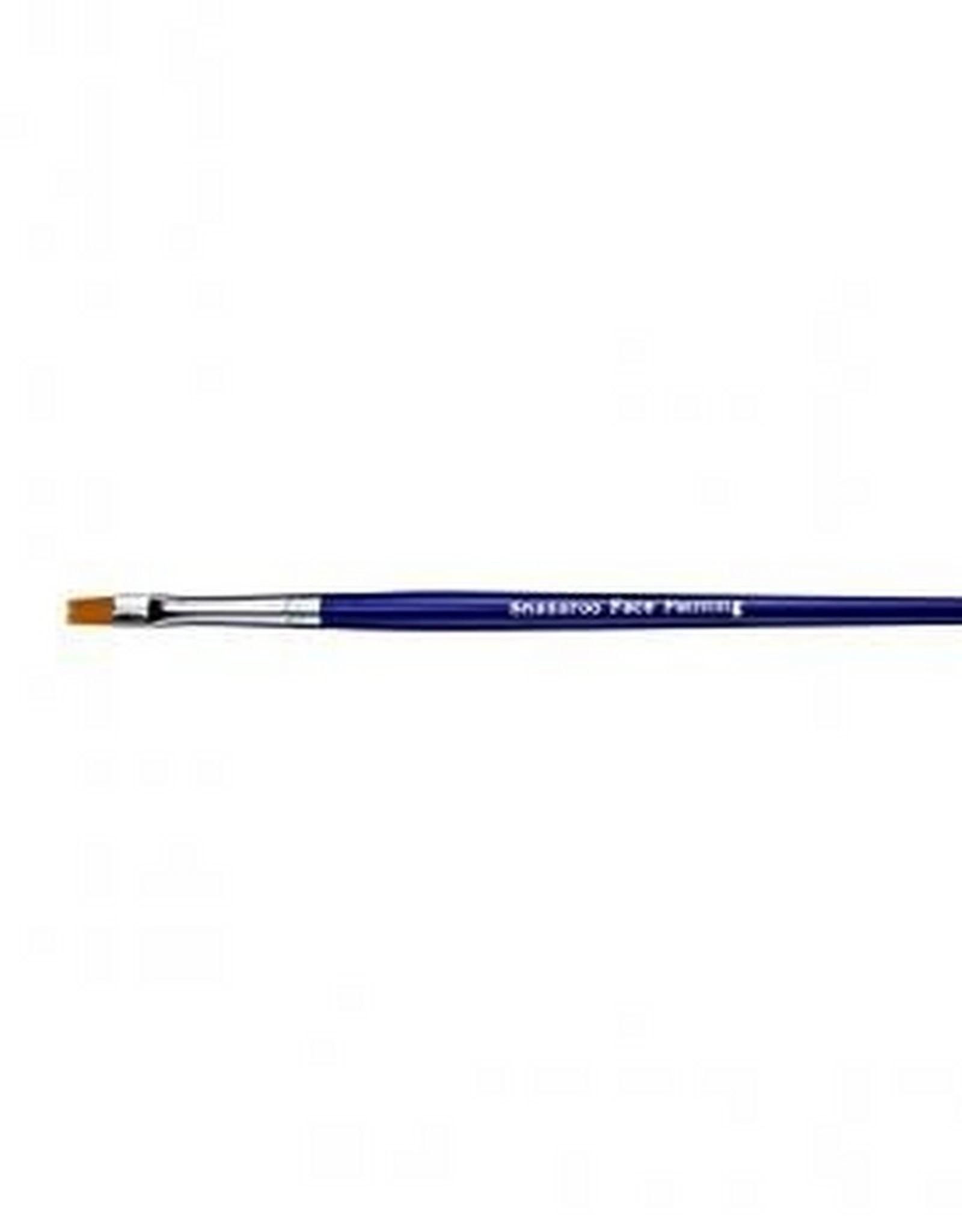 Snazaroo penseel blauw fijn plat rechthoekig
