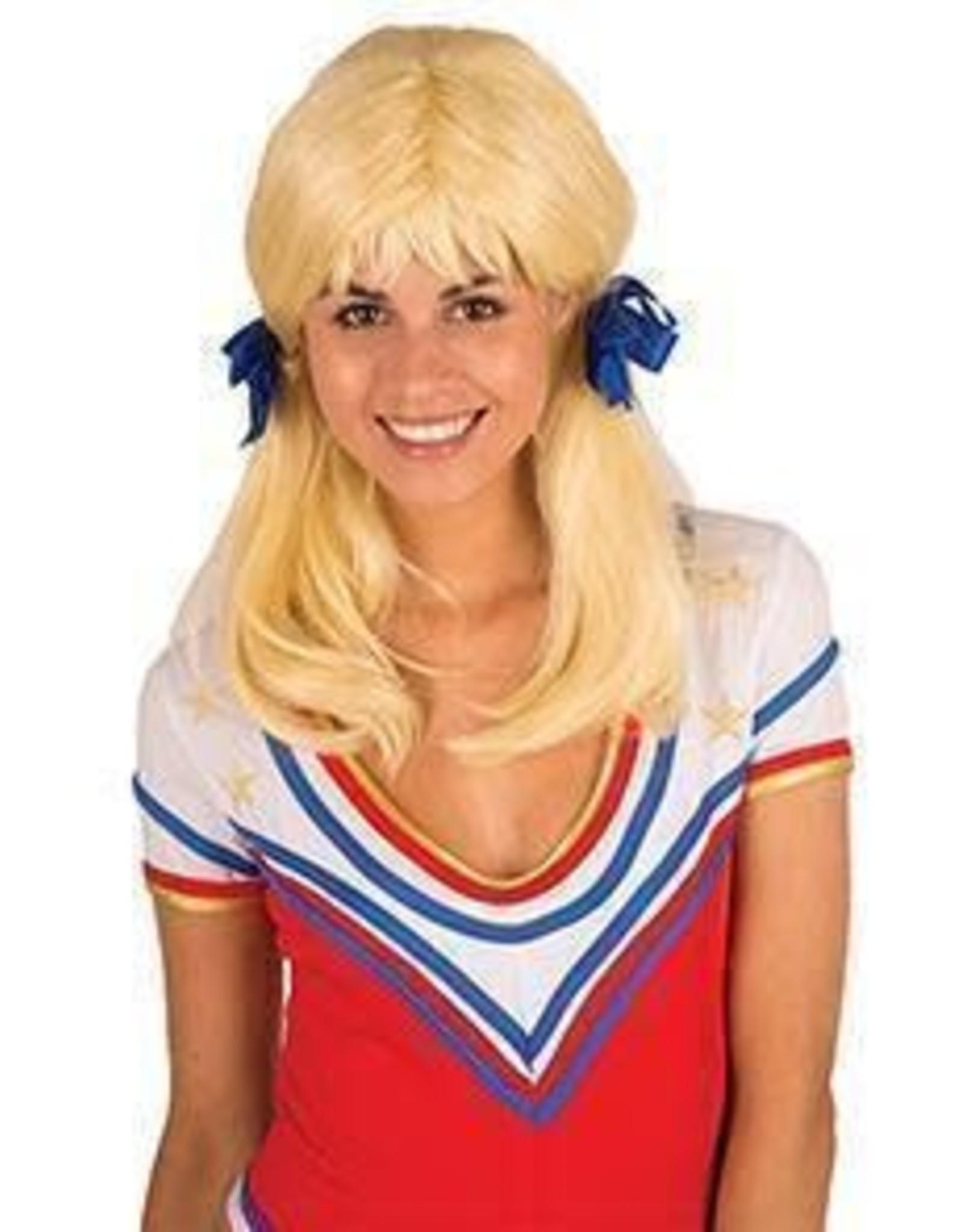 FARAM pruik met strikjes blond