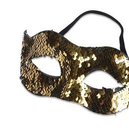 WITBAARD oogmasker goud zilver