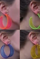 WITBAARD oorbellen neon