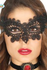 FIESTAS GUIRCA oogmasker zwart geborduurd 1