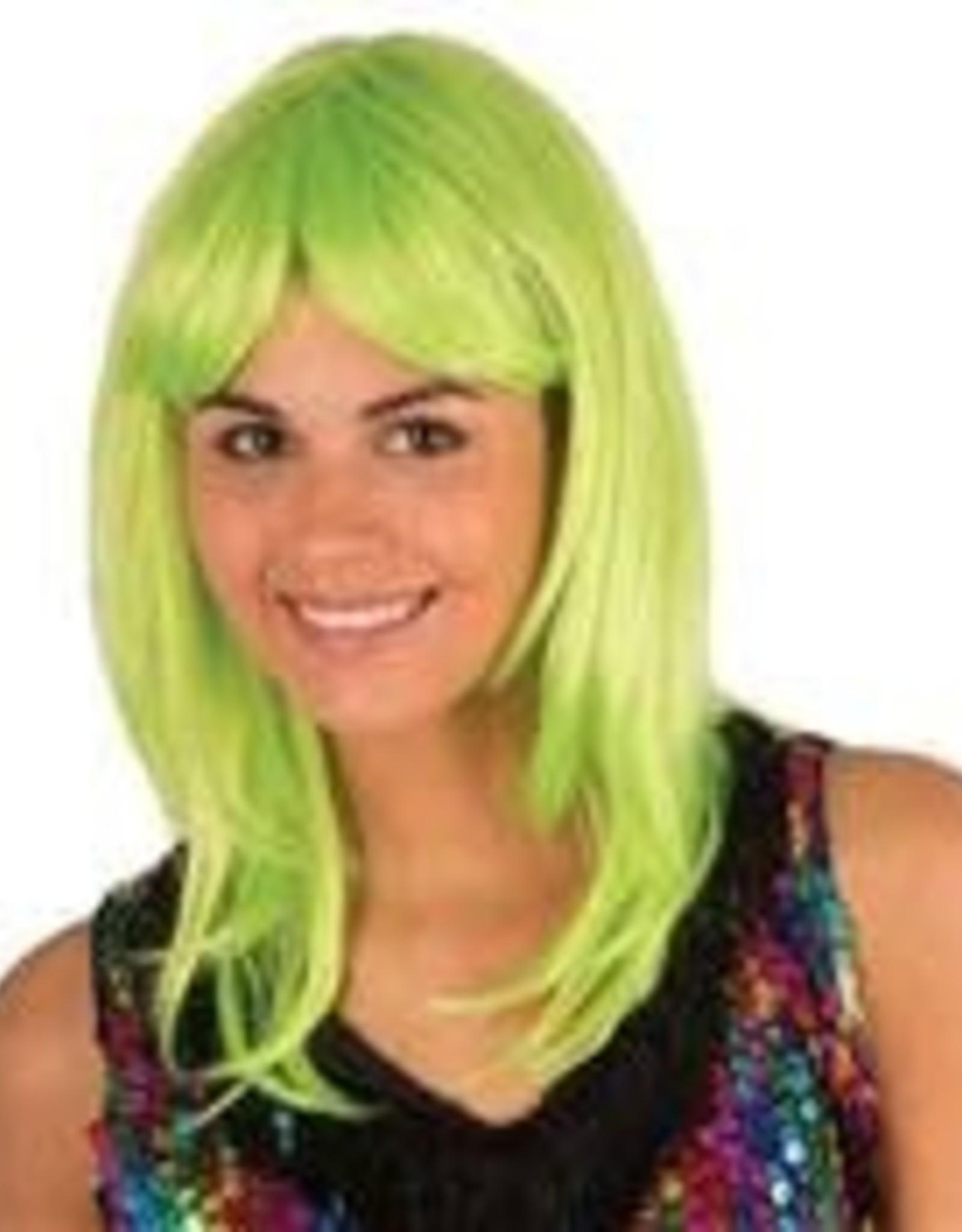 FARAM pruik Katia fluo groen