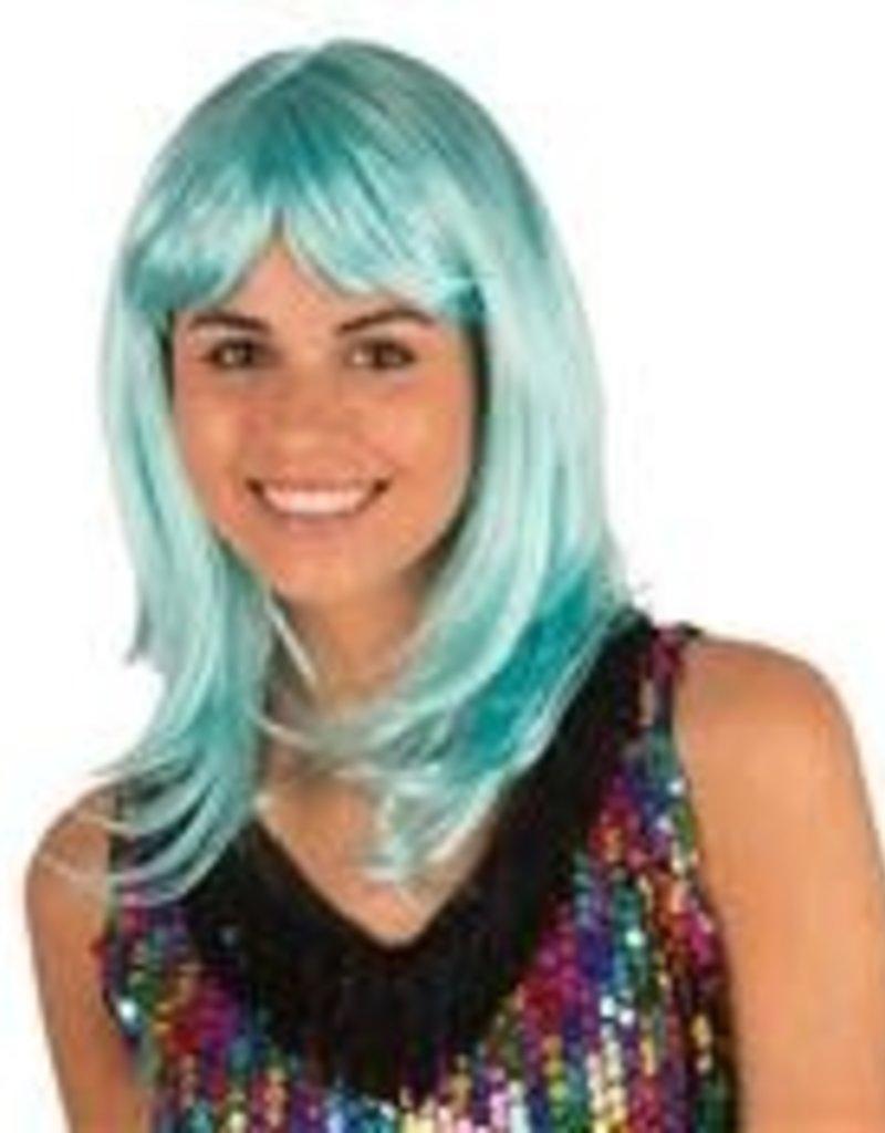 FARAM pruik Katia turquoise