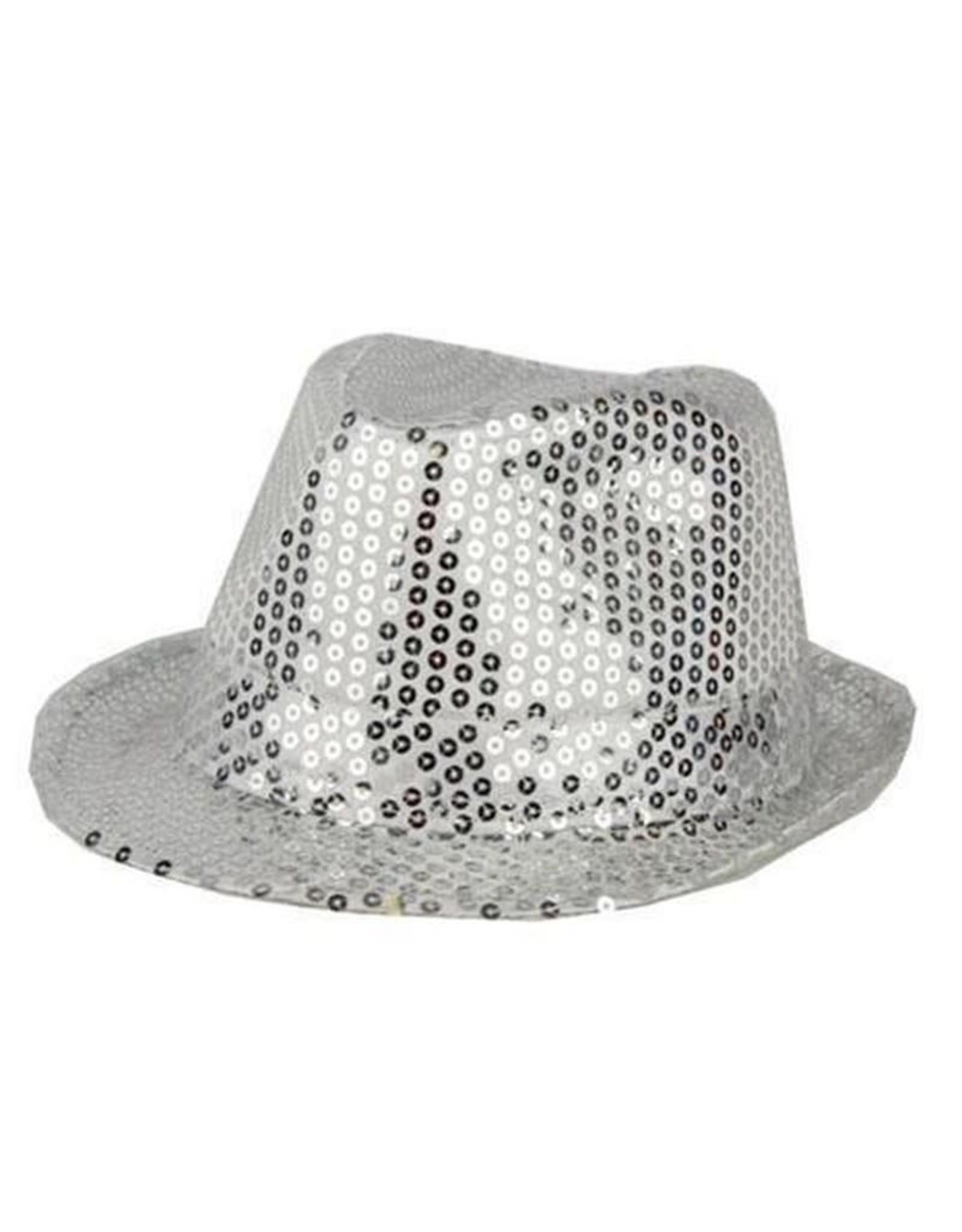 FARAM hoed disco pailletten zilver