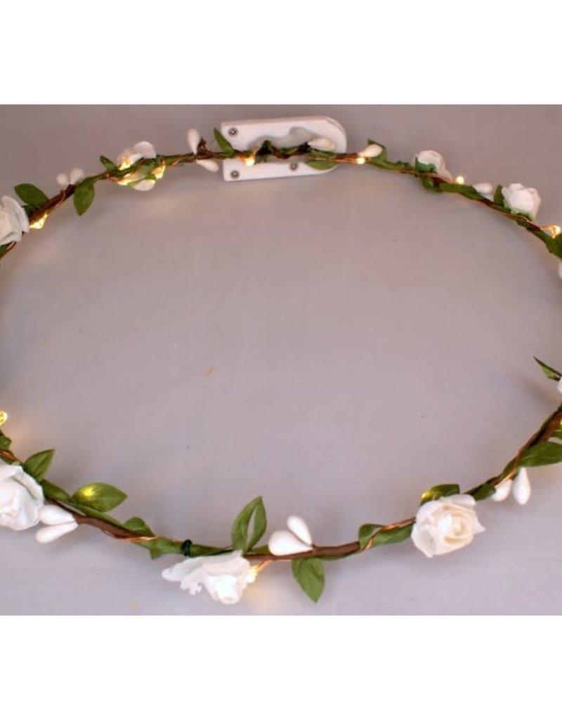 bloemenkroon klein witte roosjes
