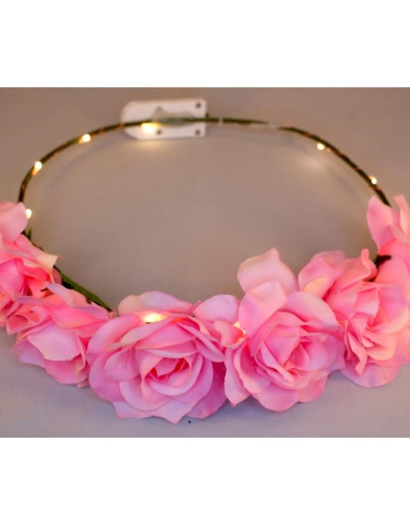bloemenkroon roze roosjes