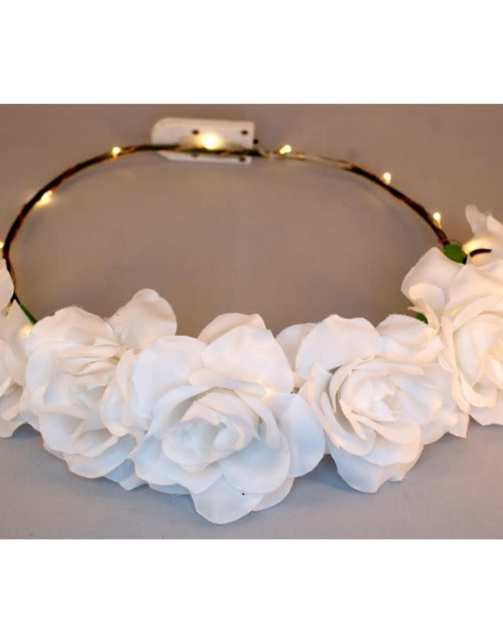 bloemenkroon witte roosjes