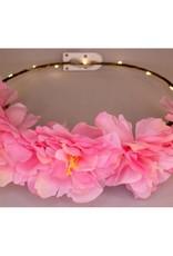 bloemenkroon roze pioen