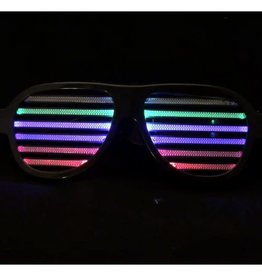 bril met verlichting, oplaadbaar.