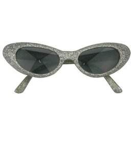 FARAM bril met glitters zilver
