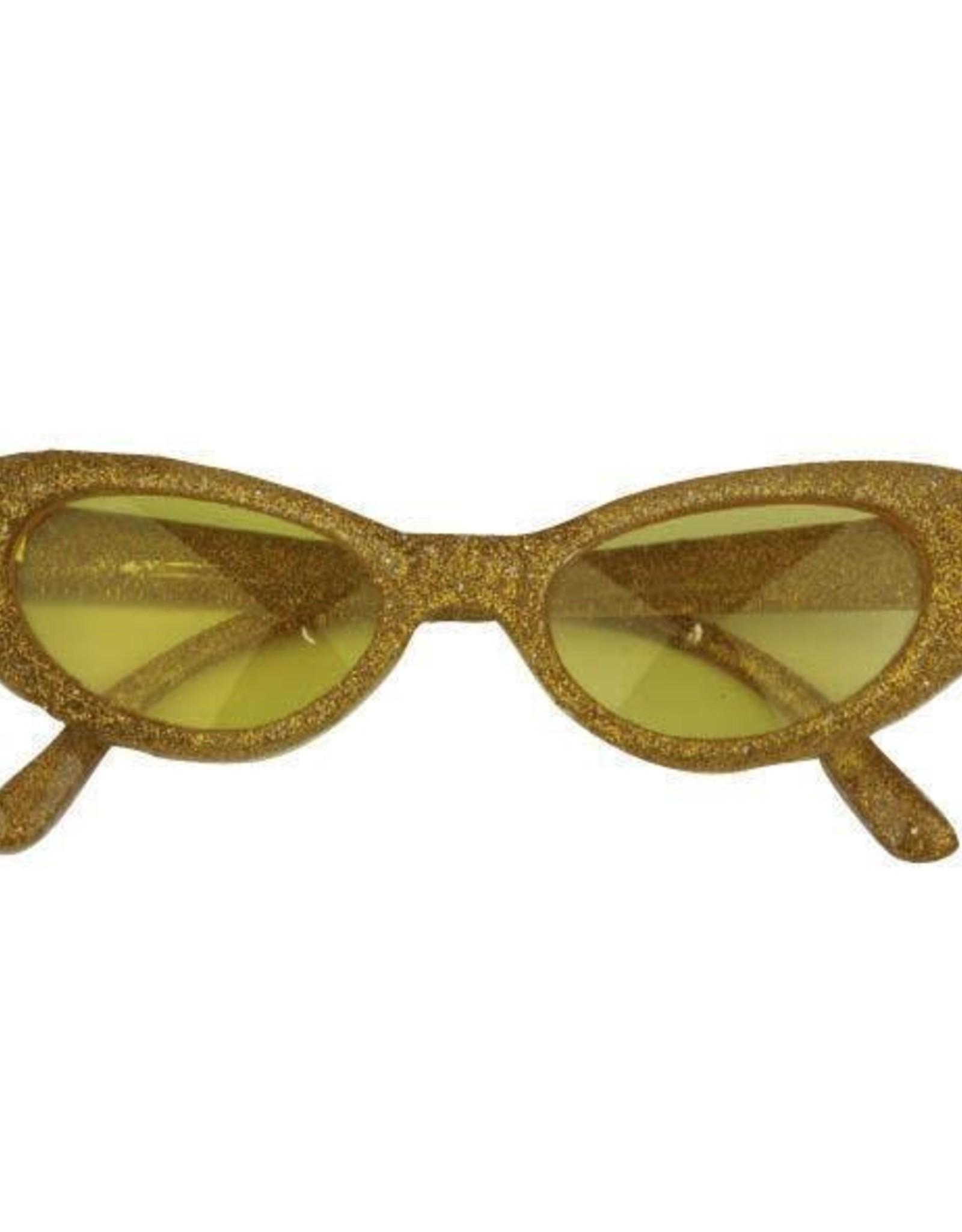 FARAM bril met glitters goud