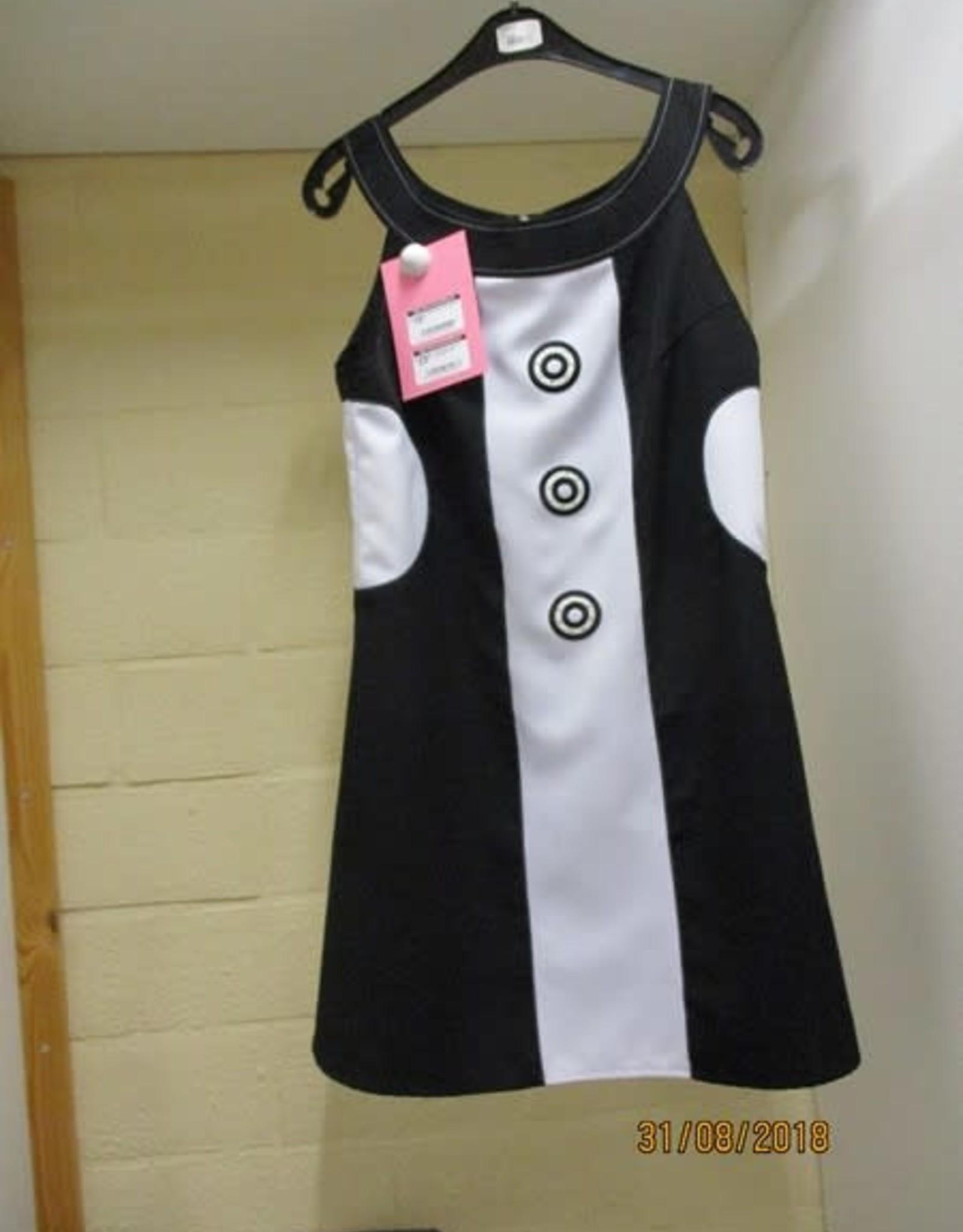 MAGIC disco kleedje zwart wit huurprijs € 15