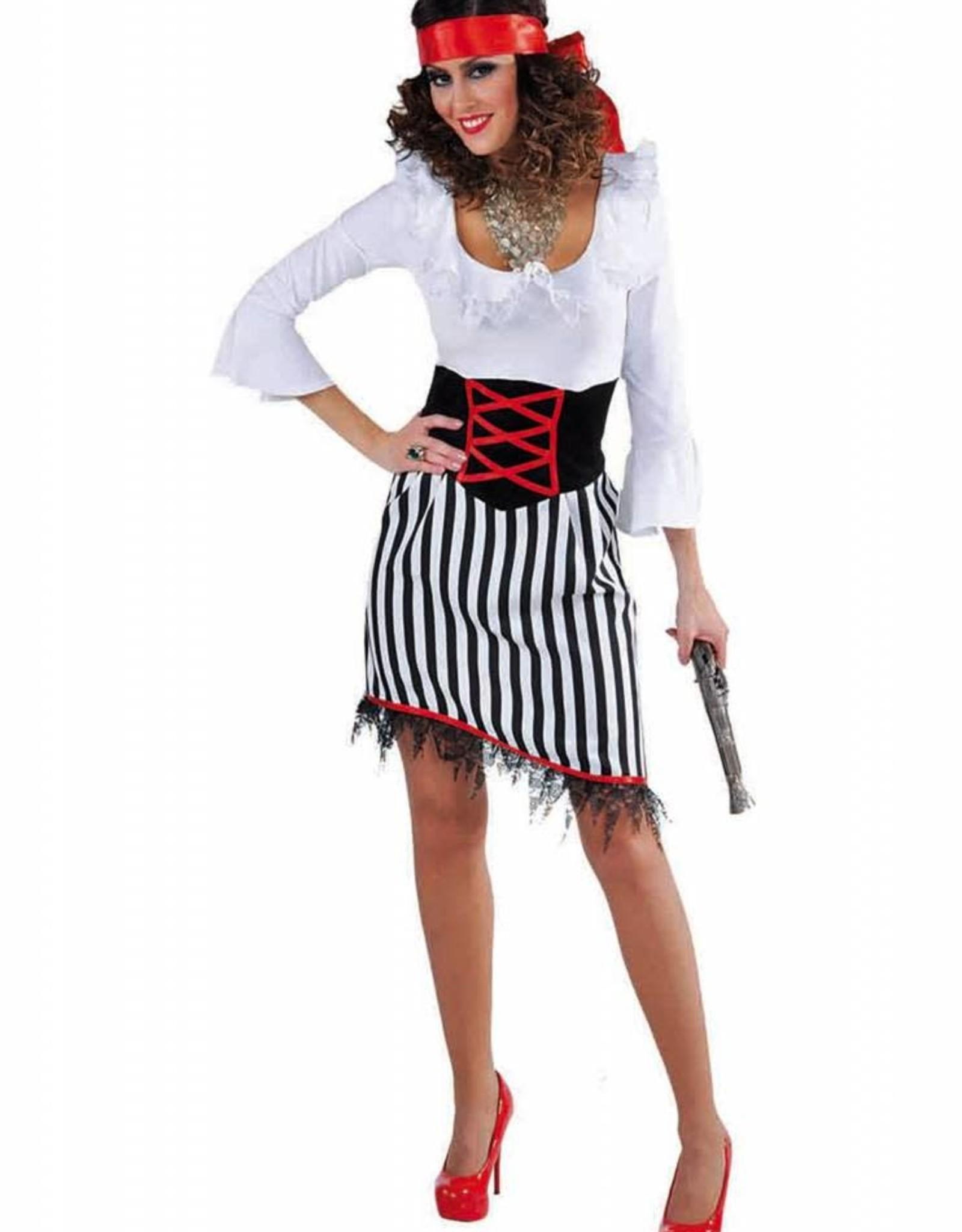 MAGIC piraatdame rok strepen huurprijs € 15