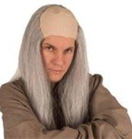 FARAM kaalkop lang grijs haar