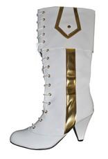ESPA witte laarzen met goud huurprijs 30