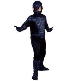 EUROCARNAVALES zwarte spiderman 10 tot 12 jaar