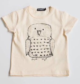 AARREKID / T-shirt Owl natural white