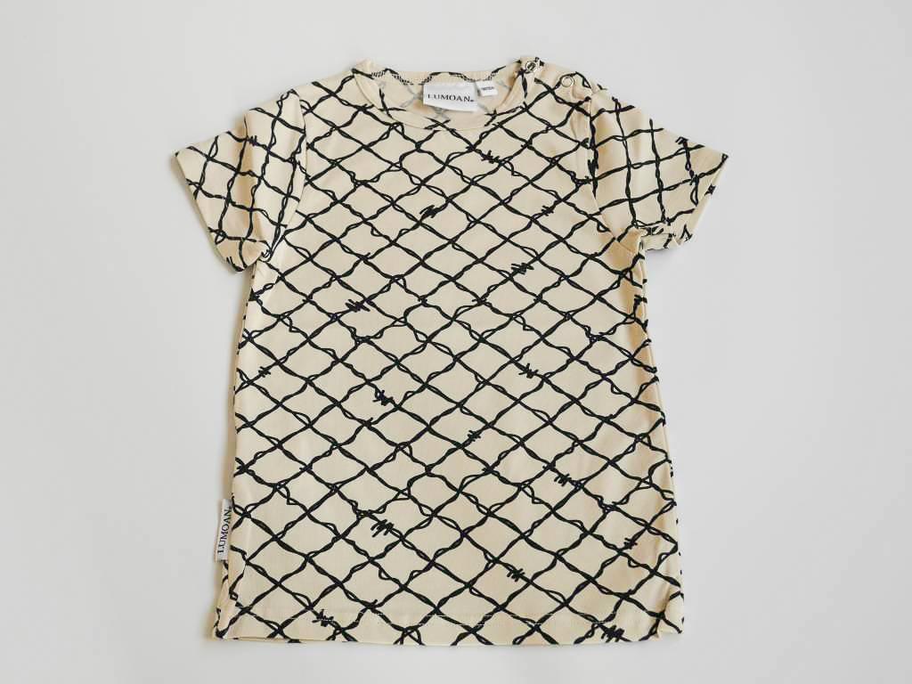 Unisex t-shirt noir/blanc