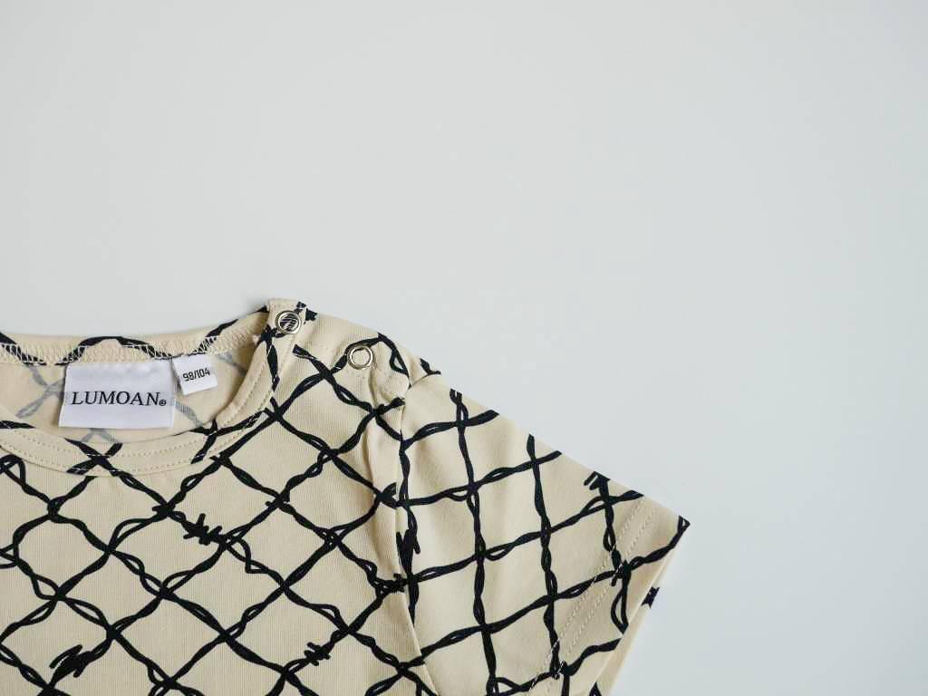 LUMOAN - T-Shirt unisex black/white
