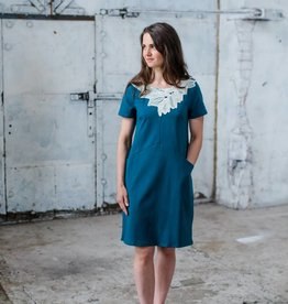 LUMOAN / Kleid Iiris petrolfarben für Erwachsene