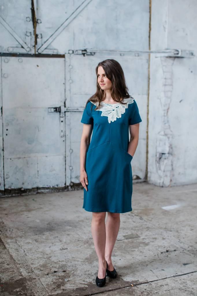 Kleid Iiris petrolfarben für Erwachsene