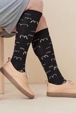 Knee socks in black for adults