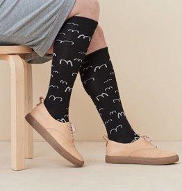 PAPU / Chaussettes de genou en noir pour adultes