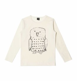 AARRE / Longsleeve t-shirt Owl natural white