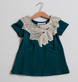 LUMOAN / Kids Dress Iiris petrol blue