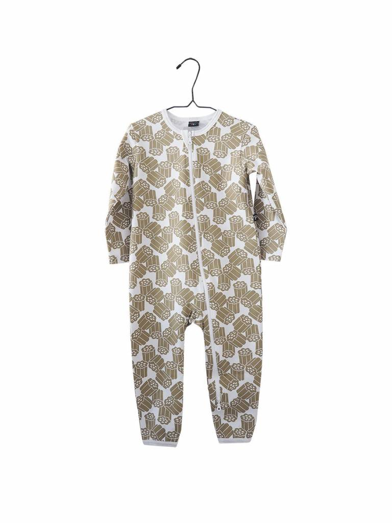 "Baby Pyjama Schlafoverall ""Kultalaku"" gold/weiss"