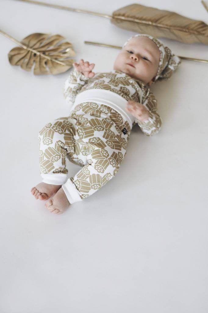 """Pantalon """"Kultalaku"""" pour bébé or/blanc"""