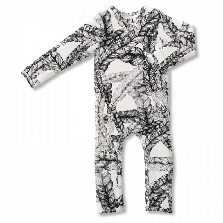 Baby jumpsuit Braid black/white