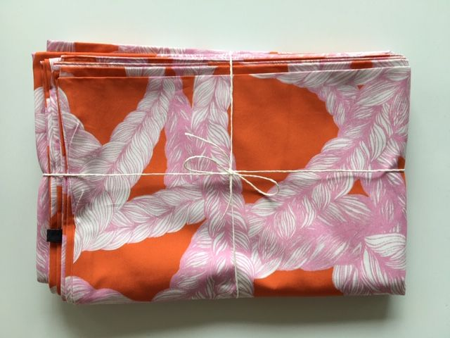 Bedclothes in rose from organic cotton