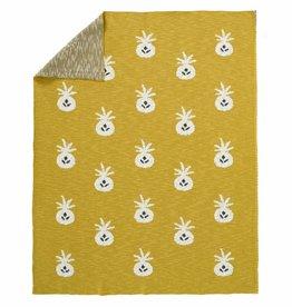 """FRESK / Blanket """"Pineapple mustard"""""""