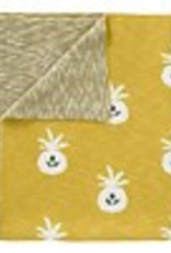 "Couverture ""Ananas Senf"" en coton biologique"