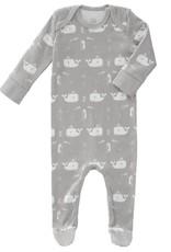 "Baby Pyjama ""Whale"" in grau aus Biobaumwolle"