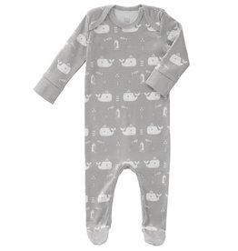 """FRESK / Baby Pyjama """"Whale""""  in grau"""