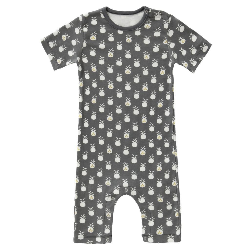 "Baby Pyjama ""Pineapple anthracite"" aus Biobaumwolle"